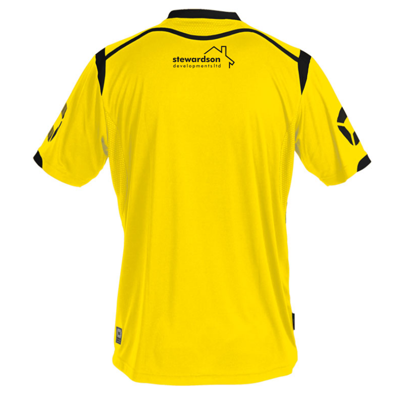 Halesowen Town FC Replica away shirt for 2017/18 season. Embroidered logo to front and sponsor prints to front and back.