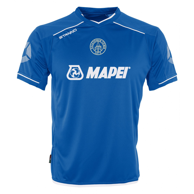 Halesowen Town FC Replica home shirt for 2017/18 season. Embroidered logo to front and sponsor prints to front and back.